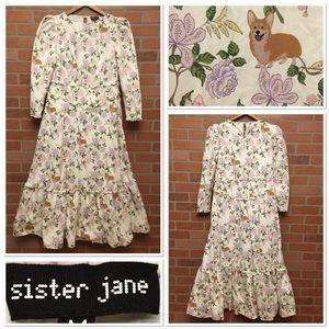 Sister Jane long dress ruffle cottagecore (3T44)